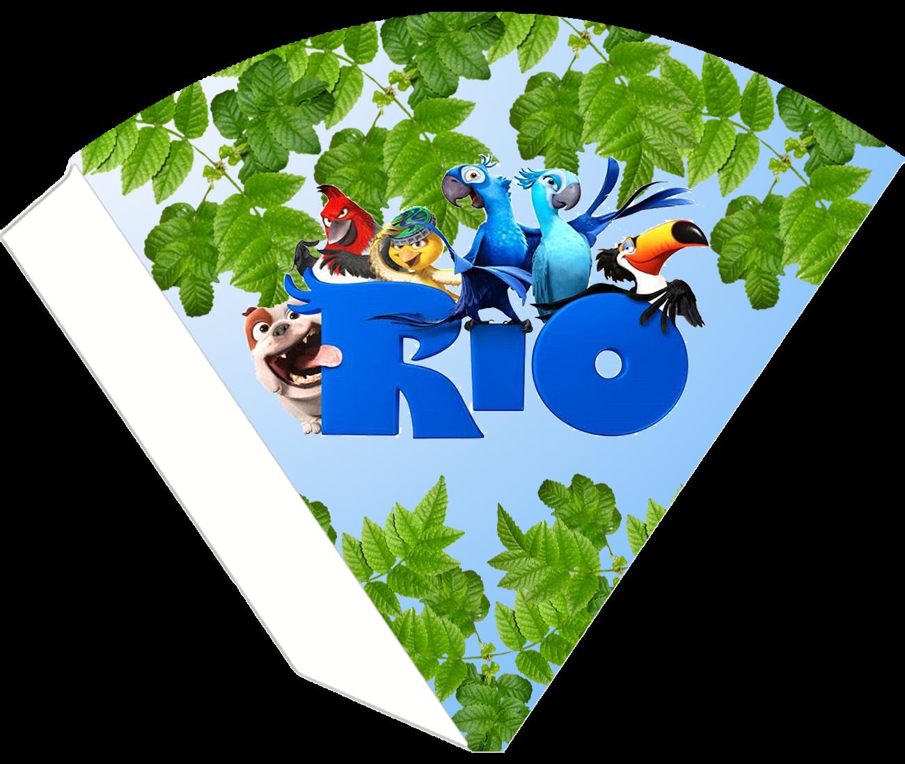 Rio, Free Printable Cones.