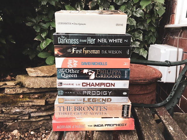 july, books, bookish, haul, bronte, inca, philippa gregory, marie lu, cervantes, david nichols