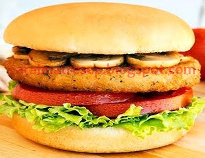 Foto Resep Burger Tahu dari Tahu Putih Olahan Sederhana Spesial Asli Enak