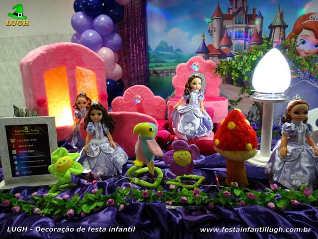 Mesa decorativa festa Princesa Sofia