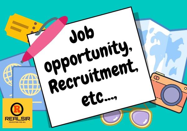 Job opportunity & Recruitment