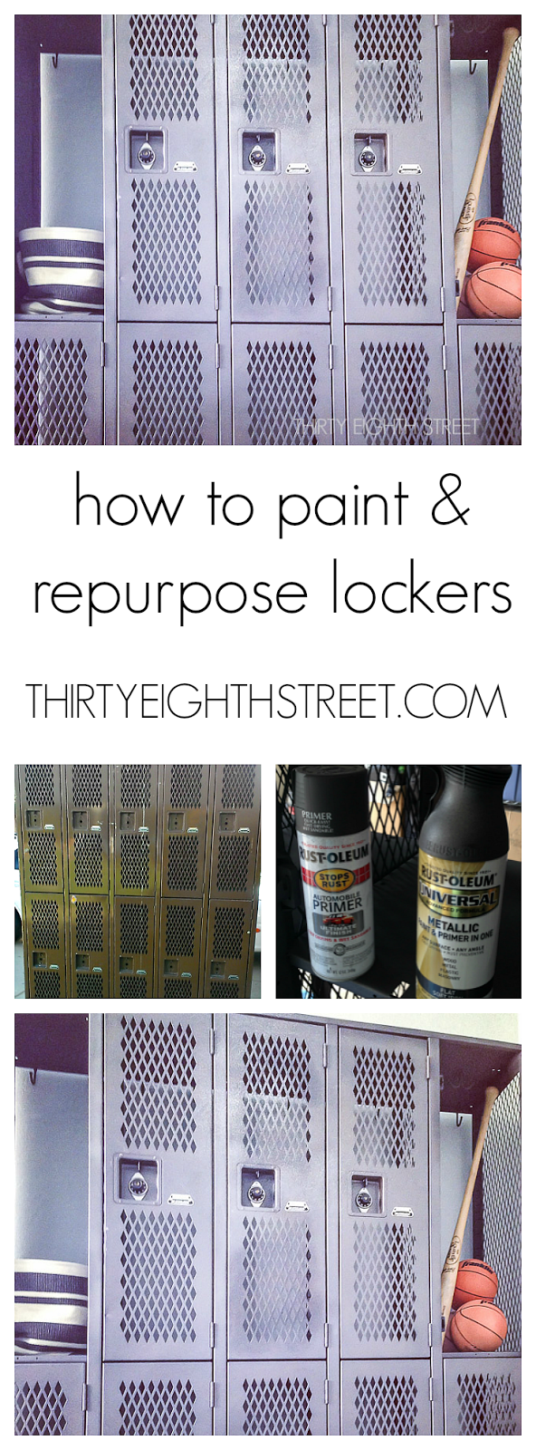 Painting Metal Lockers, Diy, How To Prep Metal Storage Lockers, Give Lockers  An