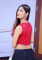 Nishi Gandha in Beautiful Red Crop Top ~  Exclusive 009.jpg