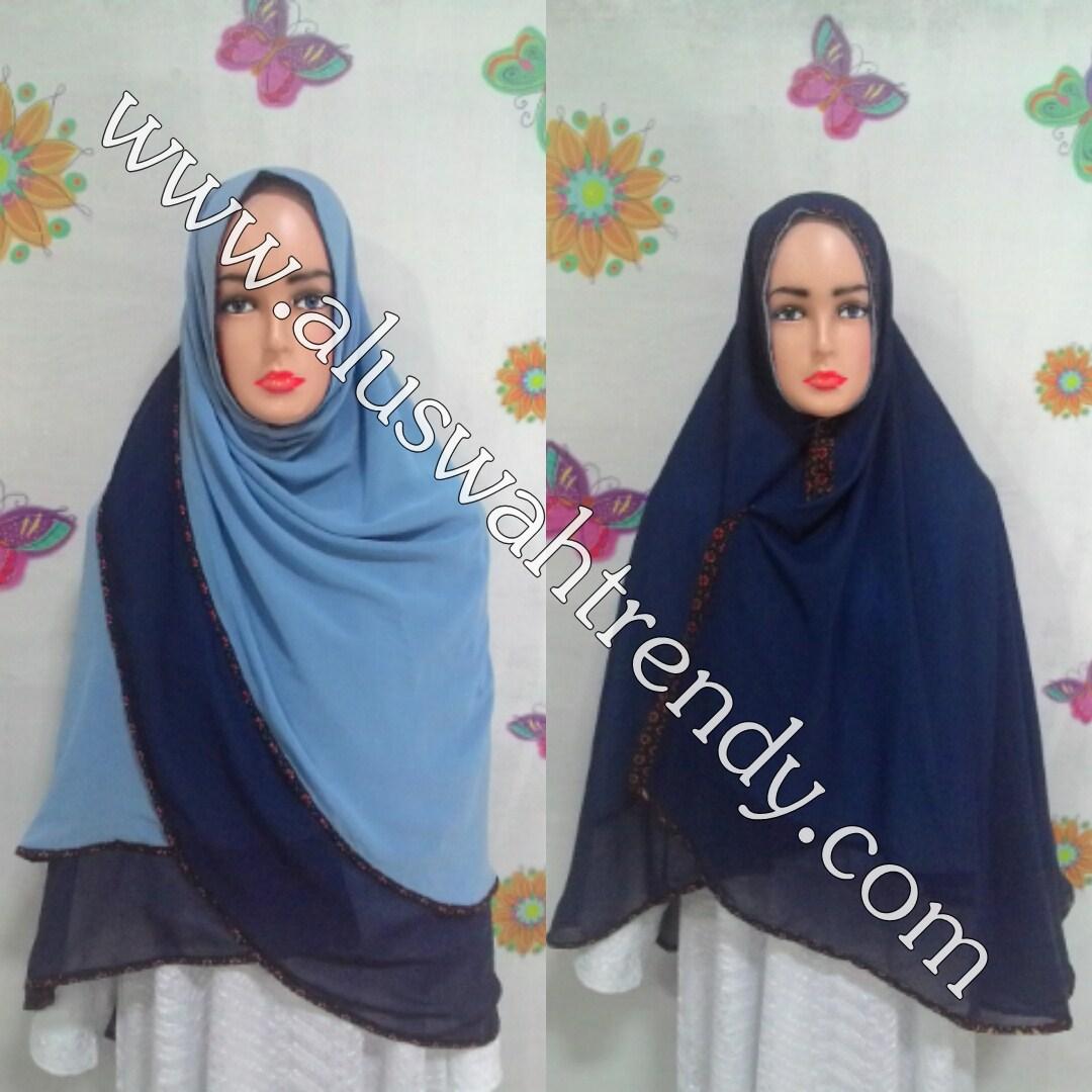 Jilbab Khimar Bolak-Balik 2 Warna 09