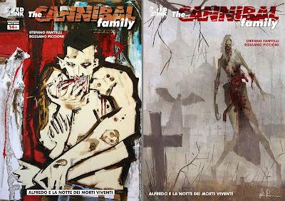 Alfredo e la notte dei morti viventi: cover regular (sinistra) e variant (destra)