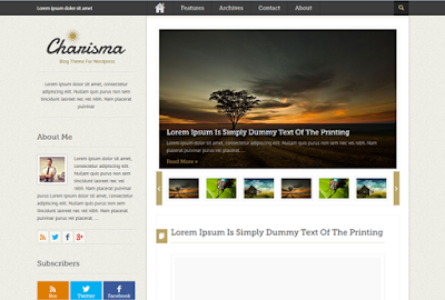 Download Charisma - Premium Wordpress Blog ThemeCharisma - Premium Wordpress Blog Theme Free
