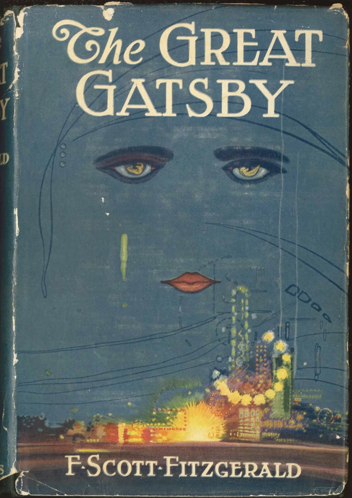 The dust jacket for The Great Gatsby.