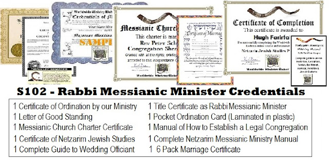 Messianic jewish rabbi ordination package - WMEK