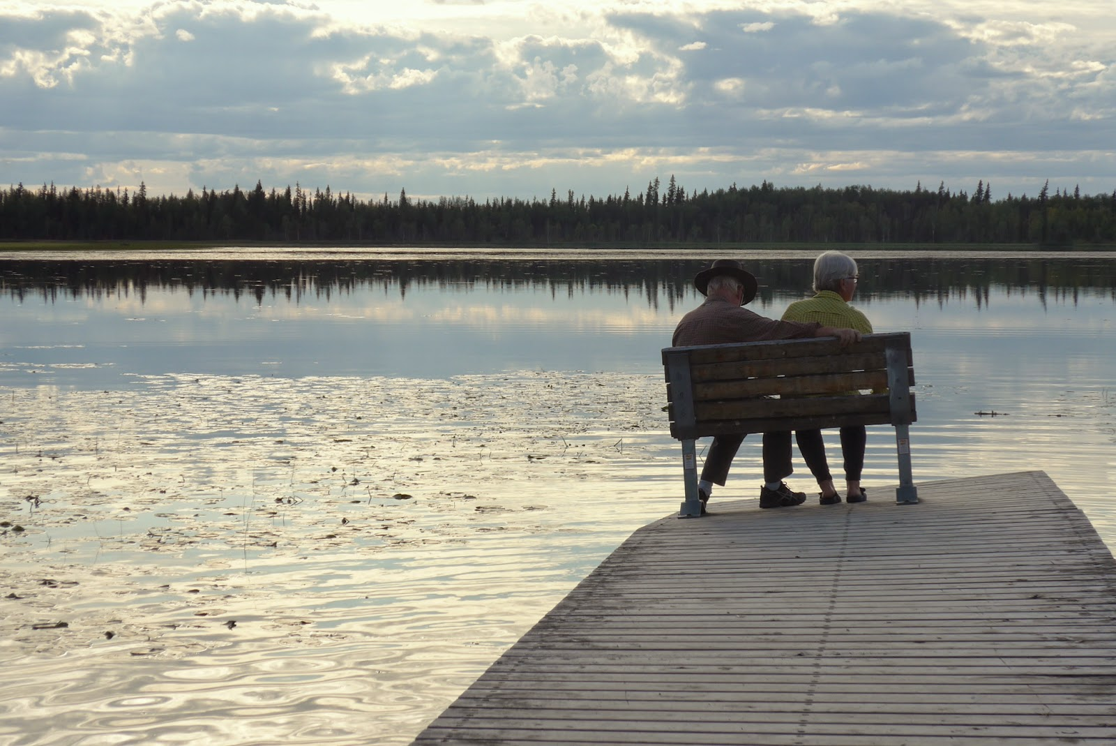 Christian and Annemarie at Quartz Lake, Alaska
