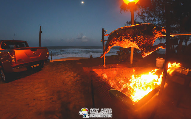 Grilled lamb at the beach of Tanjong Jara Resort