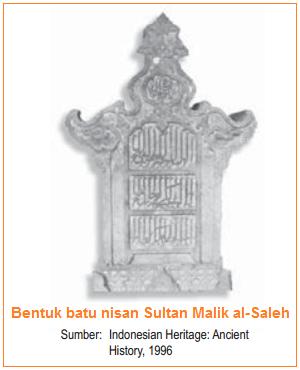 Bentuk batu nisan Sultan Malik - Teori Gujarat - Teori Masuknya Islam ke Indonesia