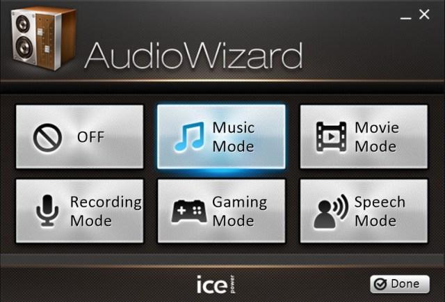 Audio wizard ice power