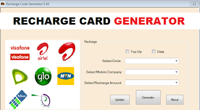 Generate recharge card pin number free