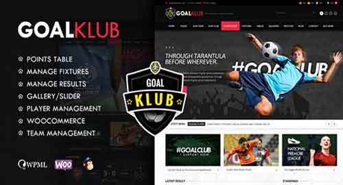 Goal Club v1.4 - Sports & Events WordPress Theme