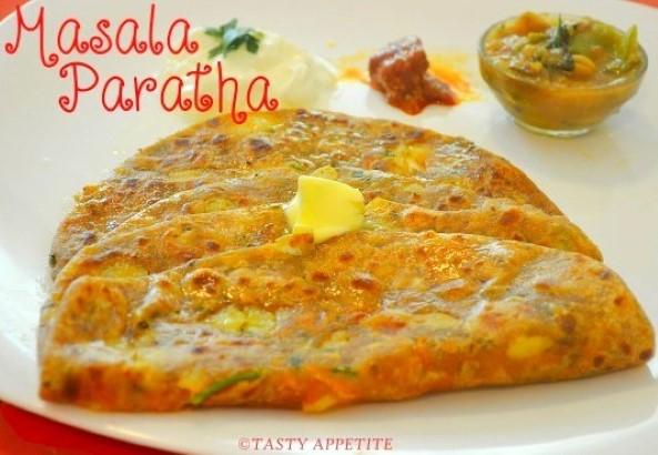 spicy masala paratha