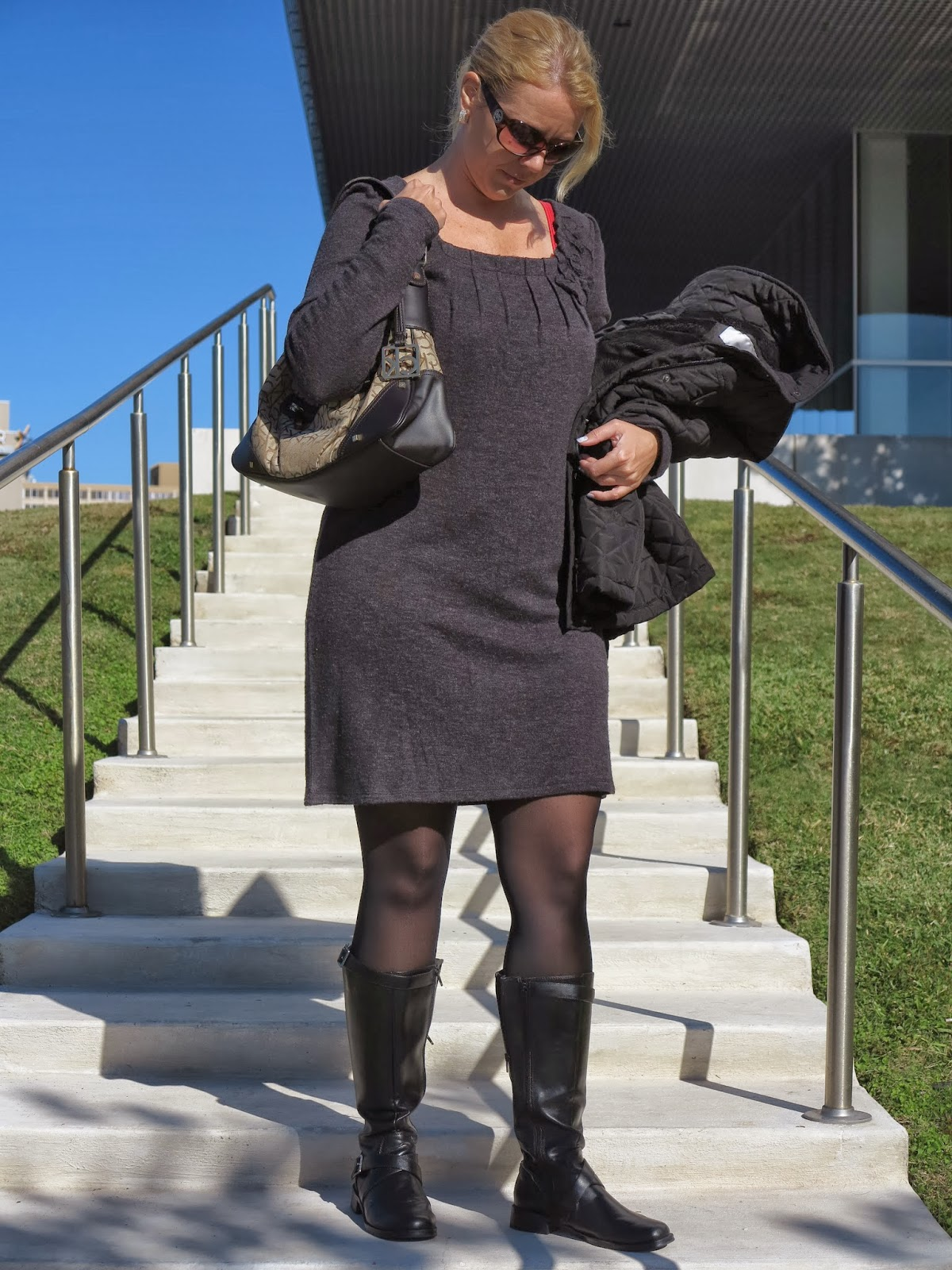0d47c648a5 FASHION OVER 40  HOW TO WEAR A WOOL DRESS!