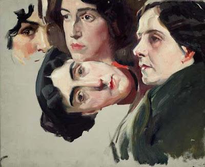 Estudio de cabezas de mujer, Joaquín Sorolla Bastida, Retratos de Joaquín Sorolla, Joaquín Sorolla y Bastida, Joaquín Sorolla, Pintor español, Retratista español, Pintores Valencianos