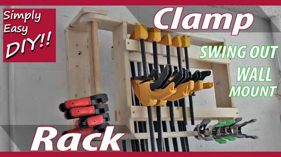 How to build a wall hanging swing out clamp rack