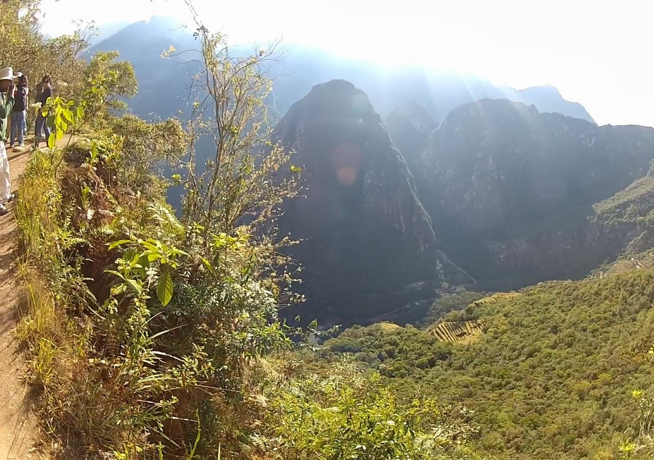 Subindo a montanha Huaynapicchu.