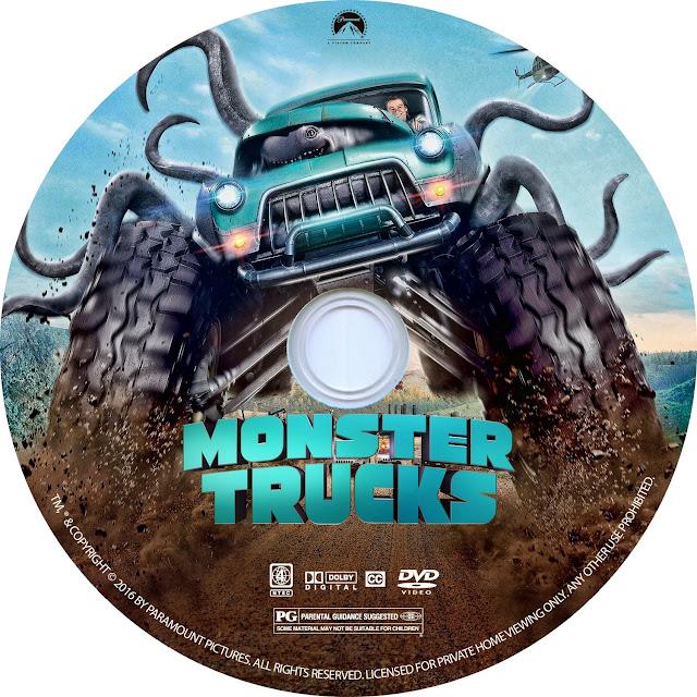 Label DVD Monster Trucks