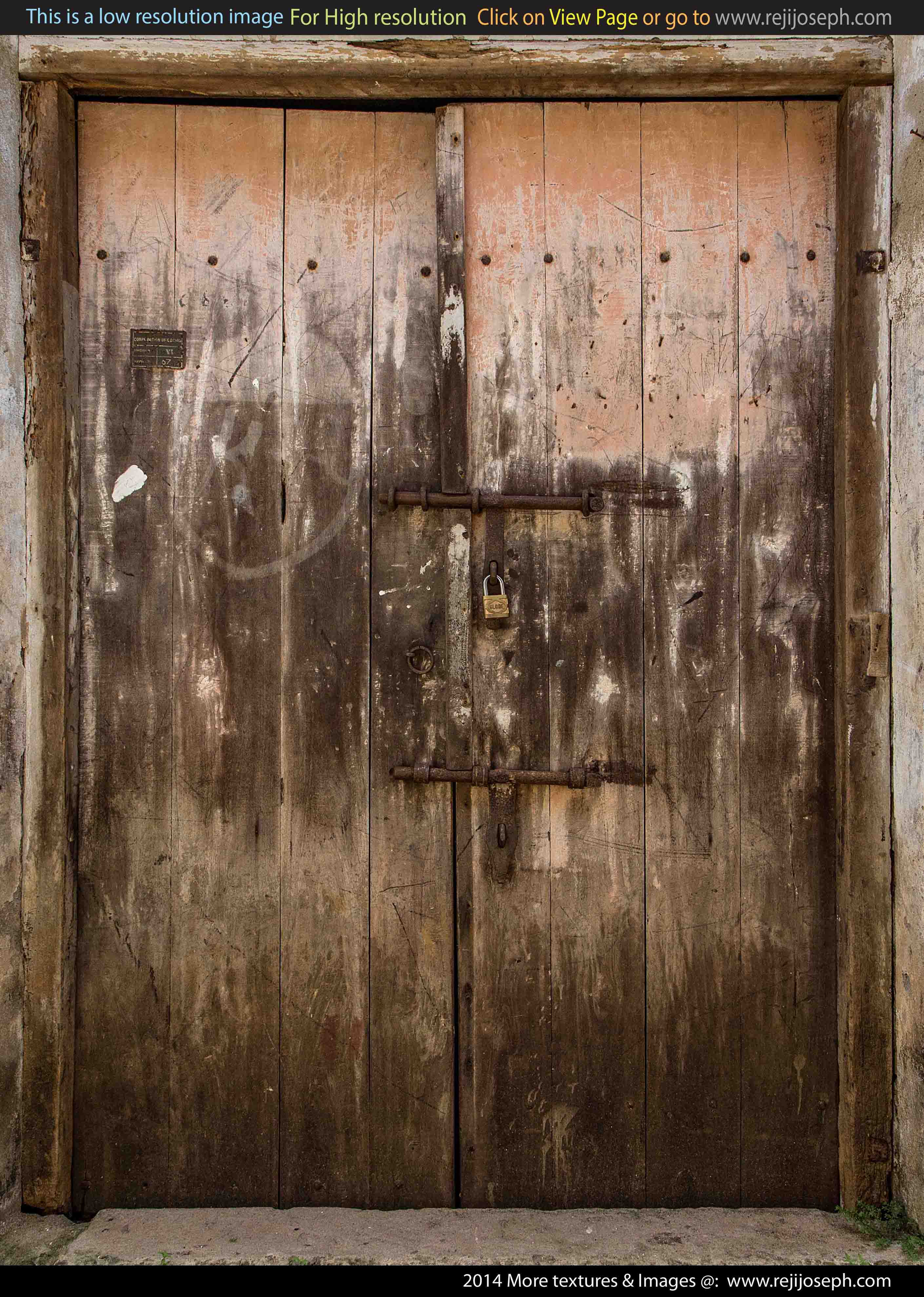 Old Wooden Door texture 00005