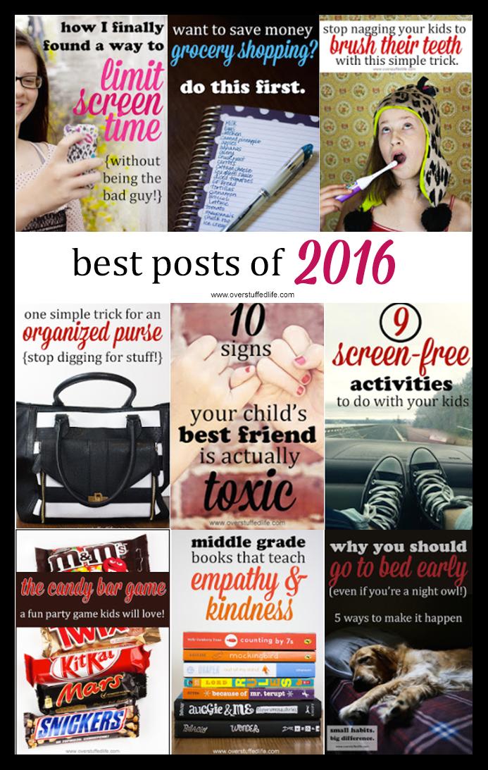 Overstuffed top ten 2016 www.overstuffedlife.com