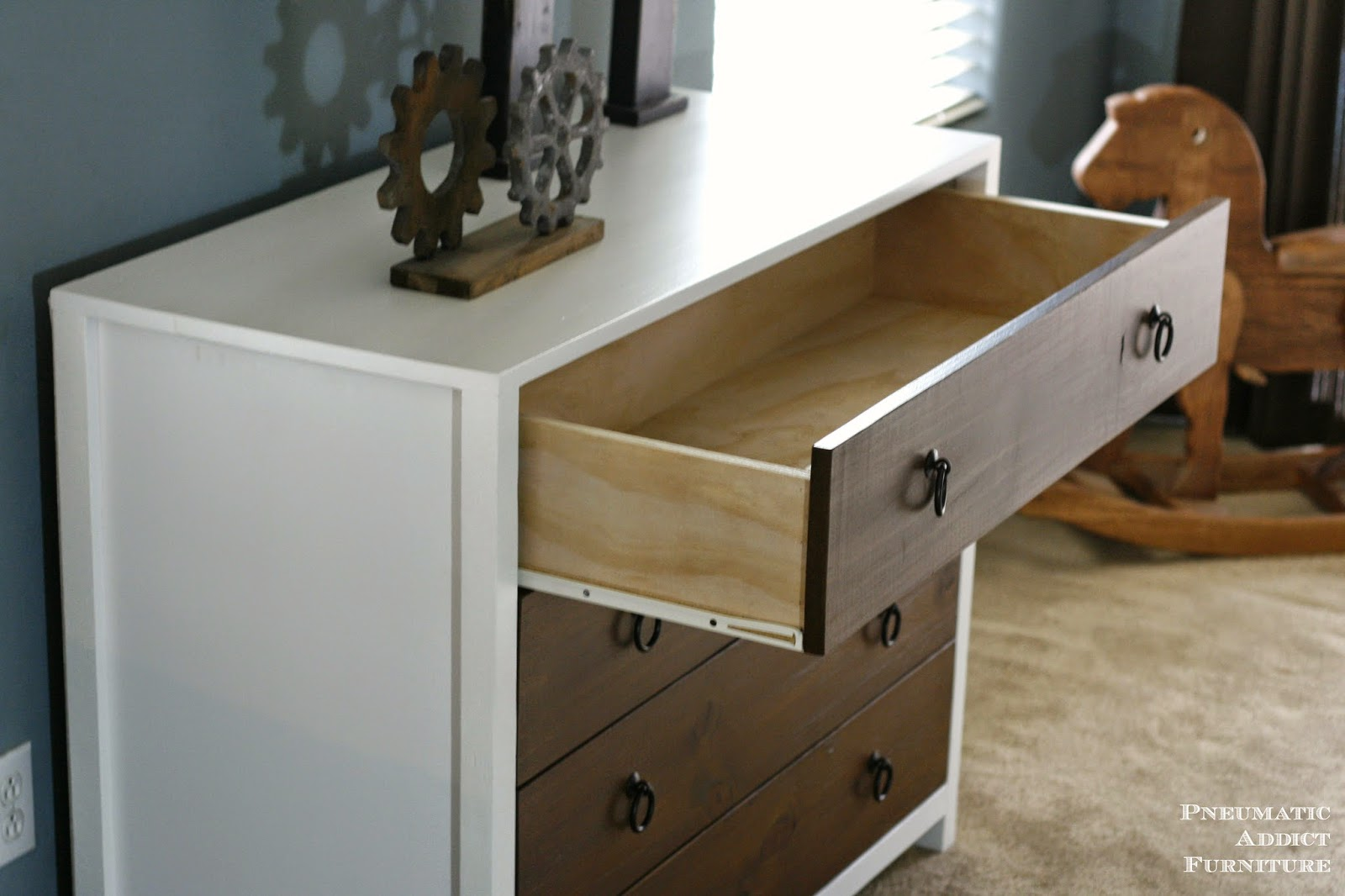 DIY two tone solid wood dresser