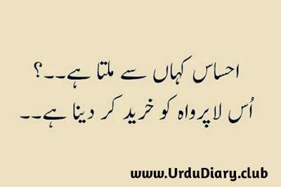 ahsas kaha se milta hai - urdu sad shayari images