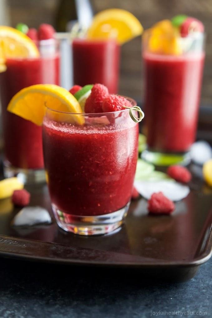 Frozen Raspberry Peach Sangria #sangria #drink