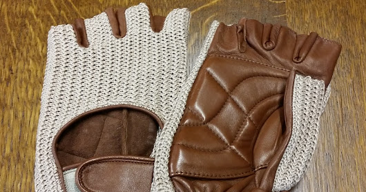 Use leather gloves for more comfort and safety