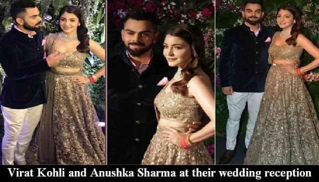 Virat Kohli And Anushka Sharma At Their Wedding Reception Watch Free All TV Programs Latest Gossip News