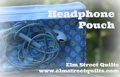 headphone pouch tutorial