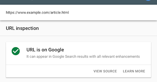 New URL inspection tool & more in Search Console