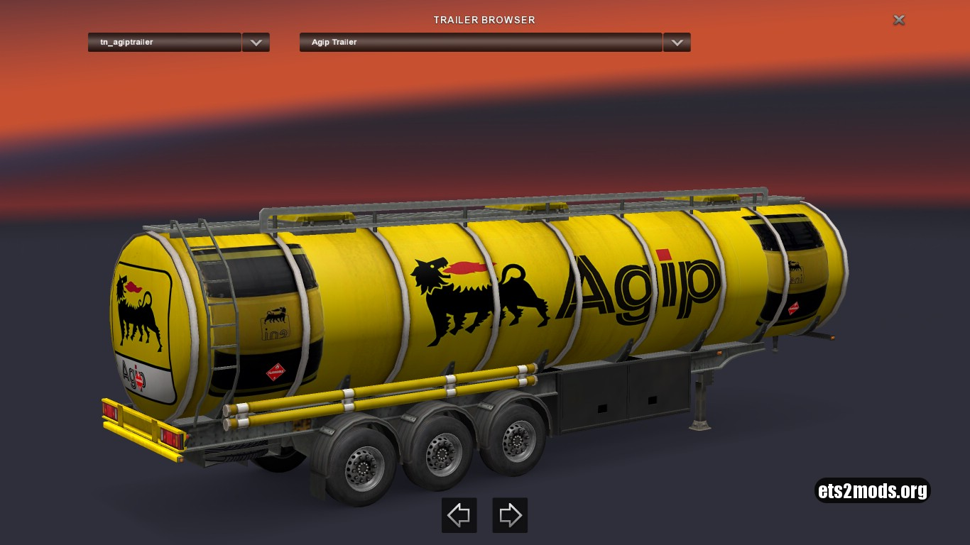 Fuel Agip Trailer