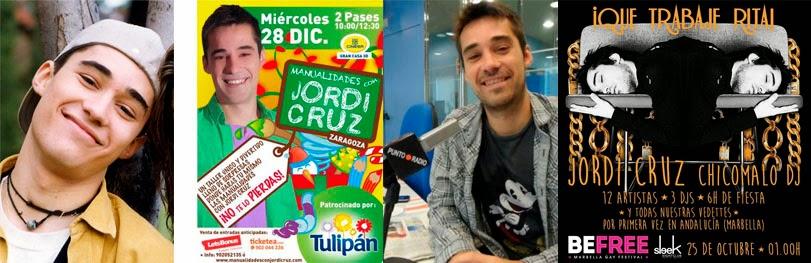 Jordi Cruz, de presentador a DJ y profesor de manualidades