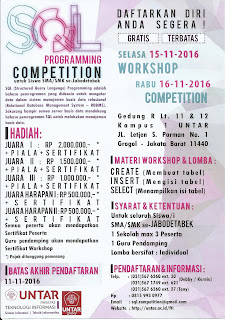SQL Programming Workshop dan Competition