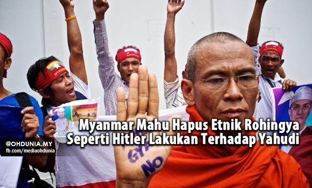 Myanmar Mahu Hapus Rohingya Seperti Hitler Lakukan Terhadap Yahudi