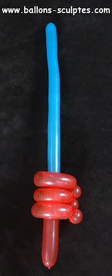 sabre laser en ballons