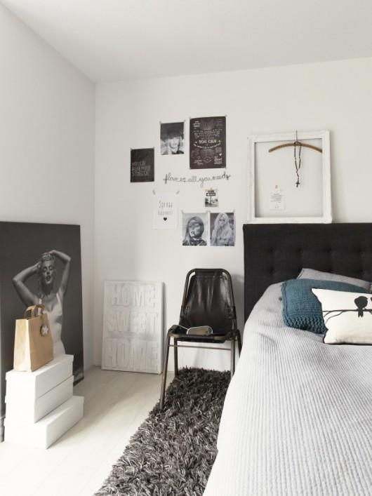 silla de cuero en el dormitorio chicanddeco