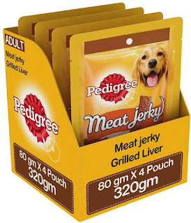 Flipkart – Buy Pedigree Meat Jerky Stix Grilled Liver Dog Treat (240 g, Pack of 4) at Rs.158 only