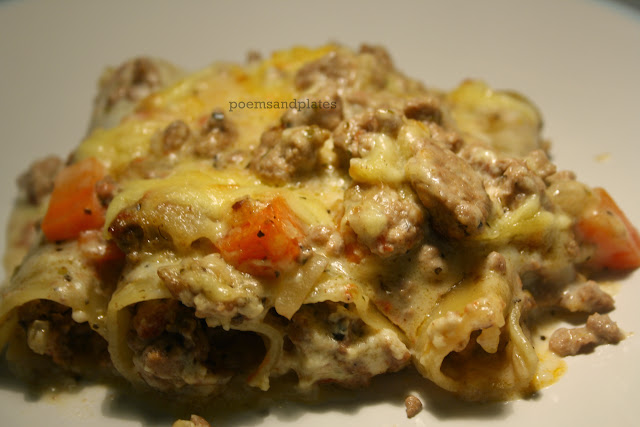 Three Meat Cannelloni Casserole