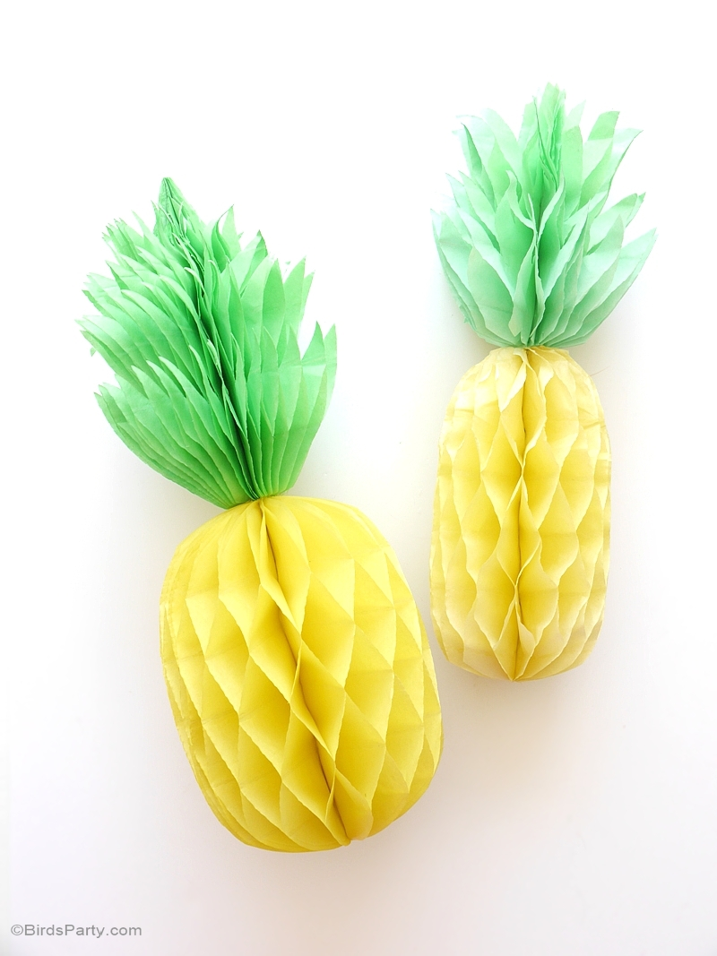 Diy d corations de f te ananas alv ol es f tes party for Ananas dekoration