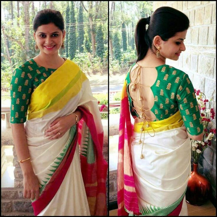 1d5dd2c36bf42 Latest saree blouse designs front and back  Top 30 Trendy designs ...