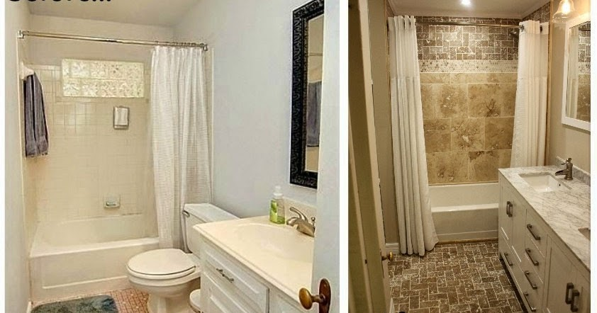 Little House in the Big D: Bathroom remodel... before and ...