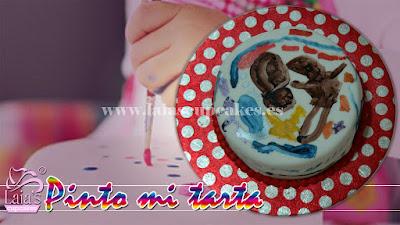 Tarta personalizada fondant pinto mi dibujo Laia's Cupcakes Puerto Sagunto