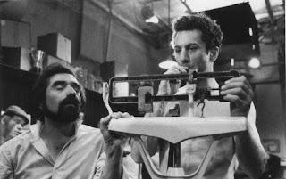 De Niro en la báscula junto al director Martin Scorsese