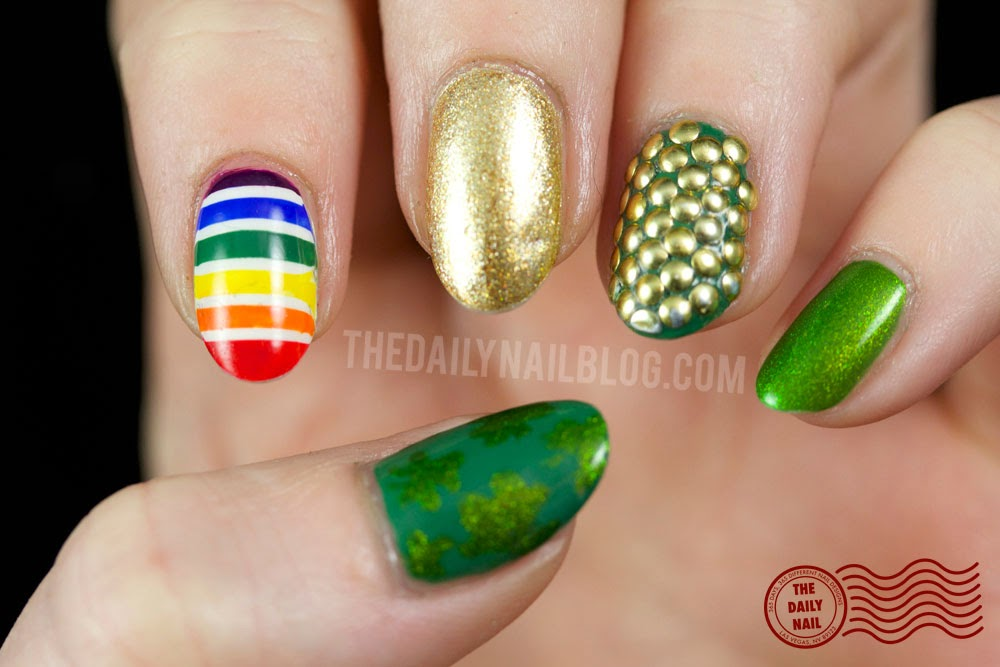 Luck of the Not So Irish manicure