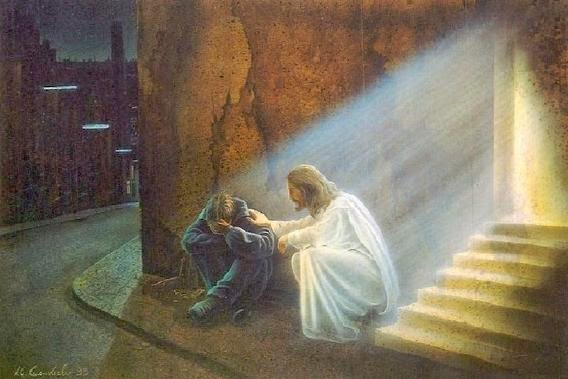 Resultado de imagem para jesus e o mendigo quadro