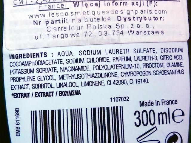 Nectar Of Nature - Szampon przeciwłupieżowy z trawą cytrynową, skład