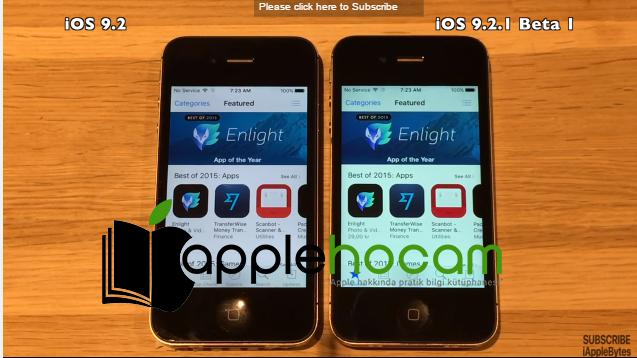 iOS 9.2 vs iOS 9.2.1 Hız Testi Videosu